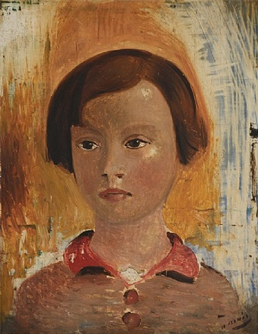portrait of a little girl by andré derain