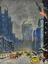 park avenue winter by guy carleton wiggins
