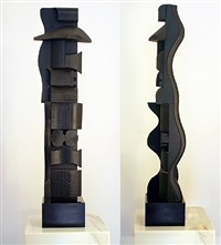 small column xvi (in 2 parts) by louise nevelson