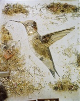 humming bird (pictures of scrap metal) by vik muniz