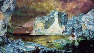 the icebergs, after frederic e. church (pictures of pigment) by vik muniz
