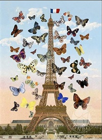 eiffel tower (large lenticular) by peter blake