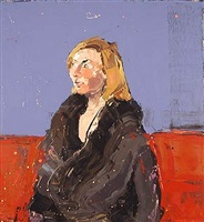 portrait of jac in winter coat by paul richards
