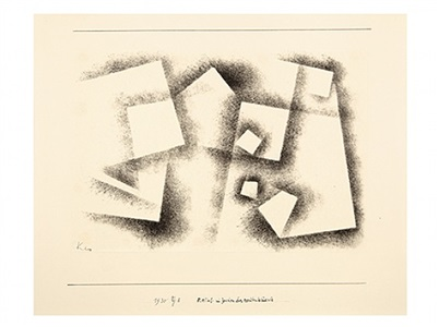 relief im zeichen des rechten winkels / relief under the sign of the right angle by paul klee