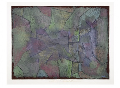 bergschlucht / canyon by paul klee
