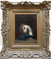 nude in contemplation by jean jacques henner