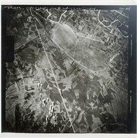 aerial incendiary bombs dropping on european sites: nis dispensary area, yugoslavia by anonymous
