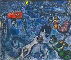 la parade au village by marc chagall