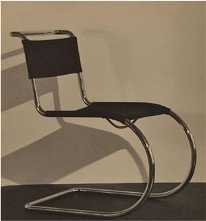 mies van der rohe chair by hannes beckmann