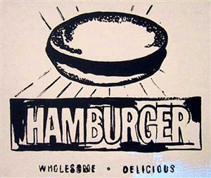 hamburger painting (beige) by andy warhol