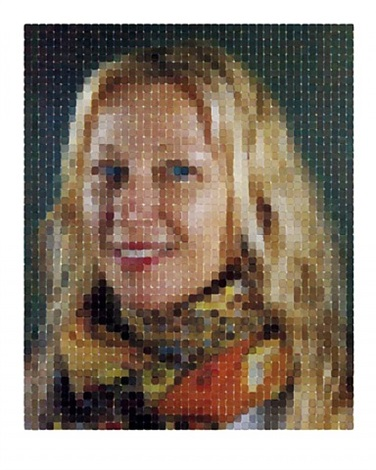 cindy (smile) by chuck close