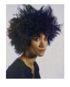 sienna (3/4 view) by chuck close