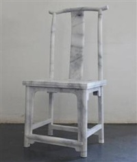 marble chair by ai weiwei