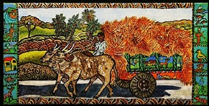 bullock cart art by melissa s. cole