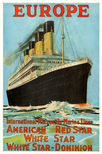 europe (white star line-olympic/titanic) by frederick j. hoertz