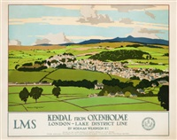 london, midland, & scottish railway company travel poster by norman wilkinson