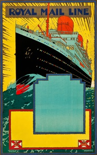 royal mail line travel poster by kenneth shoesmith