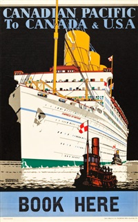canadian pacific travel poster by kenneth shoesmith