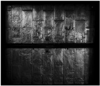 ascenseur n°2, 525 west, 26th street new york (from the series elevator doors) by philippe gronon