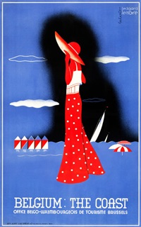 belgium travel poster by edgard lemaire