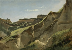 escarpments in the neandertal near düsseldorf by louis auguste lapito