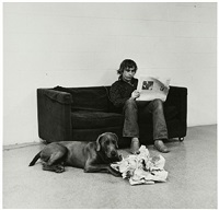 how they are toward newspapers by william wegman