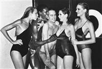 swimwear: jerry hall, vogue, paris by helmut newton