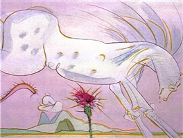 le cheval et le loup (the horse and the wolf) by salvador dalí