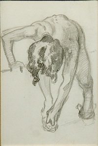 figure bending over by john singer sargent
