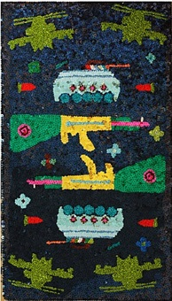 war carpet by sissi farassat