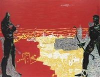 red sienna by peter doig