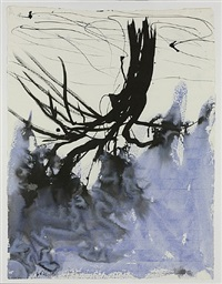 blauer baum p.m. by georg baselitz