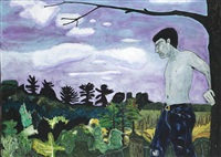 at the edge of town by peter doig