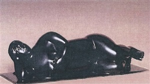 donna sdraiata (allungata) by fernando botero