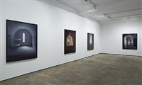 installation view of selected works, 1995 - 2005 by james casebere