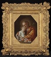 joseph holding the christ child by pietro bardellino