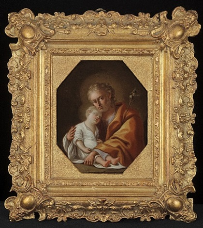 joseph holding the christ child by pietro bardellino