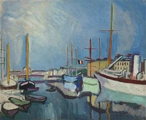 le port du havre by raoul dufy