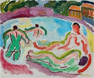 les baigneurs by raoul dufy