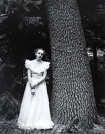 graduation dress, yosemite valley, california by ansel adams