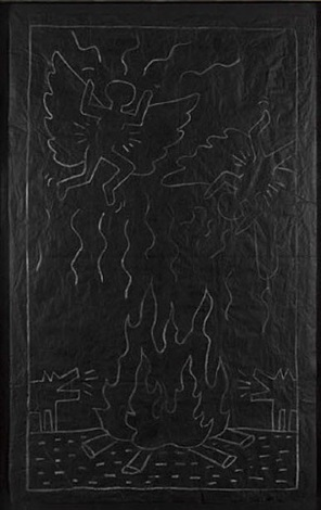 angels and coyotes by keith haring