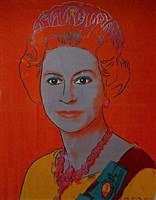 reigning queens (royal edition) queen elizabeth ii by andy warhol
