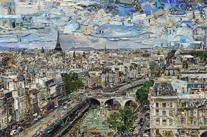 paris postcard (pictures from nowhere) by vik muniz