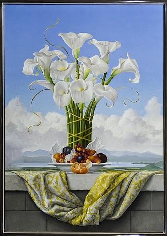 calla lilies by james aponovich