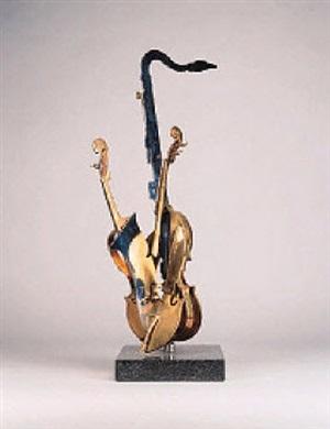 violin et saxophone by arman