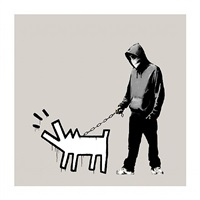choose your weapon queue jumper grey by banksy