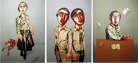 mask series no. 2, 3 and 4 by zeng fanzhi