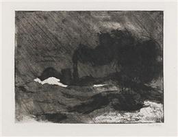 dampfer (groß , dunkel) by emil nolde