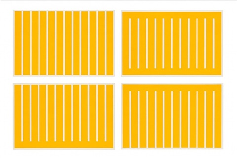 untitled (#231-234) by donald judd