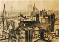 new york city scape by george benjamin luks
